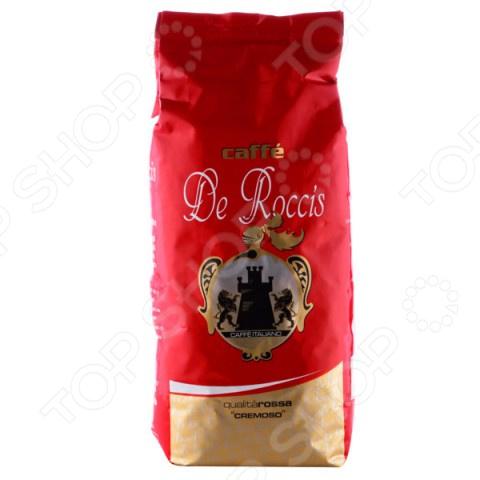 Кофе в зернах De Roccis RossaКофе в зернах<br>Кофе в зернах De Roccis Rossa для приготовления традиционного напитка кофе с невероятно глубоким вкусом. Смесь средней сладости из лучших сортов кофе Робуста и Арабики. Классический Итальянский эспрессо. Чашка настоящего кофе прекрасное наслаждение в любое время.<br>