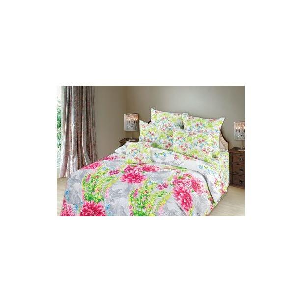 фото Комплект постельного белья Романтика «Парадиз». Евро. Простыня на резинке: нет