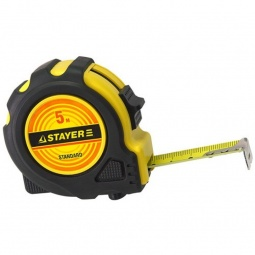 фото Рулетка Stayer Standard 34025. Длина: 3 м. Ширина: 19 мм