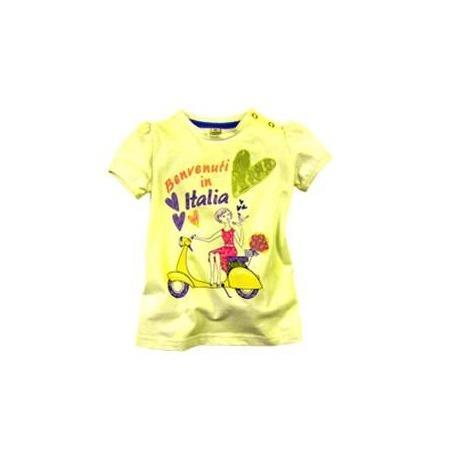 Купить Футболка для девочек Besta Plus Benvenuti in Italia. Цвет: желтый