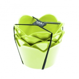 фото Набор мисок десертных Zak!designs «Сладкие мгновения». Цвет: зеленый