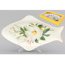 Купить Блюдо Elan Gallery «Белый шиповник»