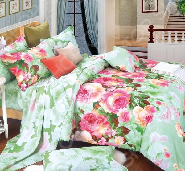 Комплект постельного белья Amore Mio Vals. Provence. 1,5-спальный1,5-спальные<br>Комплект постельного белья Amore Mio Vals. Provence это незаменимый элемент вашей спальни. Человек треть своей жизни проводит в постели, и от ощущений, которые вы испытываете при прикосновении к простыням или наволочкам, многое зависит. Чтобы сон всегда был комфортным, а пробуждение приятным, мы предлагаем вам этот комплект постельного белья. Красивое оформление и высокое качество комплекта гарантируют, что атмосфера вашей спальни наполнится теплотой и уютом, а вы испытаете множество сладких мгновений спокойного сна. В качестве сырья для изготовления этого изделия использованы нити хлопка. Натуральное хлопковое волокно известно своей прочностью и легкостью в уходе. Волокна хлопка состоят из целлюлозы, которая отлично впитывает влагу. Хлопок дышит и согревает лучше, чем шелк и лен. Не забудем, что хлопок несъедобен для моли и не деформируется при стирке. Комплект постельного белья выполнен из ткани сатин. Полотно имеет гладкую и шелковистую лицевую поверхность, не уступающую по качеству шелку. Кроме того, данный тип ткани сохраняет свою прочность и привлекательный вид даже после многочисленных стирок. Главное, соблюдать рекомендации по уходу от производителя. Необходимо стирать при температуре, указанной на ярлычке, с использованием порошка для цветного белья. Не следует прибегать к применению хлорсодержащих средств и отбеливателей. Желательно выворачивать белье наизнанку перед стиркой.<br>