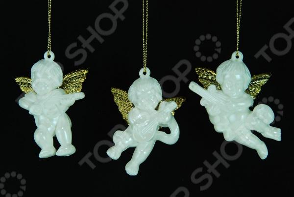 Елочное украшение Crystal Deco «Ангелочек» 1707702. В ассортименте новогоднее украшение crystal deco шар в ассортименте