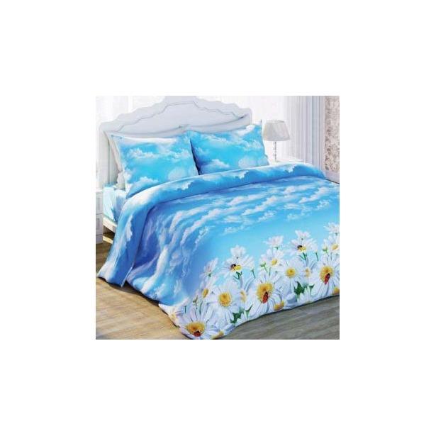 фото Комплект постельного белья с эффектом 3D Любимый дом Ромашки. 1,5-спальный