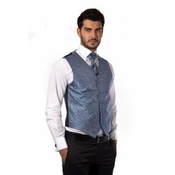 фото Жилет Mondigo 20485. Цвет: темно-синий. Размер одежды: L