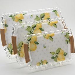 Купить Набор подносов Mayer&Boch MB-3249 «Лимон»