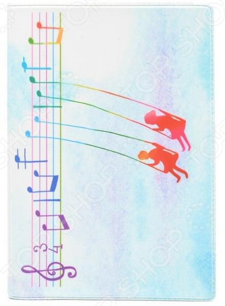 Обложка для автодокументов кожаная Mitya Veselkov «Ноты любви»Обложки для автодокументов<br>Обложка для автодокументов кожаная Mitya Veselkov Ноты любви это оригинальная обложка, которая поможет не только сохранить первоначальный вид документов, но и отметит ваш необычный стиль. Обложка достаточно большая 13,8 см х 9,5 см , она подойдет для правовой вкладки, документов на машину и доверенности. Яркий рисунок долгое время будет радовать вас своими красками, а натуральная кожа не протирается и не рвется. Использование натуральной кожи обеспечивает длительный срок эксплуатации аксессуара. Этот материал устойчив к внешним воздействиям, стойко переносит различные погодные условия. Все швы и соединительные элементы выполнены качественно и надежно. Вы можете использоваться обложку для хранения любых документов подходящего размера. Такая обложка может стать удачным подарком для любого автовладельца!<br>