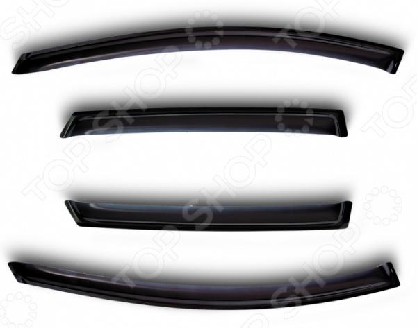 Дефлекторы окон Novline-Autofamily Hyundai Santa FE 2012Дефлекторы<br>Дефлекторы окон Novline-Autofamily Hyundai Santa FE 2012 на 4 окна это практичный аксессуар для вашего автомобиля. Если вы любите свежий воздух, то знаете какая проблема открыть окно в непогоду, особенно если на улице гуляет сильный ветер с дождём. В этом случае вам пригодятся дефлекторы, ведь вы сможете приоткрыть окно и не переживать из-за попадания воды и грязи в салон. Дефлекторы представляют собой своеобразные рамки, которые легко закрепить на вашем автомобиле. Они корректируют воздушный поток, таким образом перенаправляя грязь, осколки, мелкий мусор и снег, который летит прямо в вашу машину. Можно отметить следующие преимущества этих дефлекторов:  Устойчивы к ультрафиолету и воздействию факторов окружающей среды.  Материал отличается долговечностью и износостойкостью.  Они продлевают срок службы стёкол и позволяют сохранять целостность лако-красочного покрытия за счёт перенаправления летящего мусора и камней. Если вы хотите добавить что-то новое в образ вашего автомобиля, то попробуйте установить представленные дефлекторы и вы сразу заметите, что машина стала выглядеть схоже со спорткарами. Товар, представленный на фотографии, может незначительно отличаться по форме от данной модели. Фотография представлена для общего ознакомления покупателя с цветовым ассортиментом и качеством исполнения товаров данного производителя.<br>