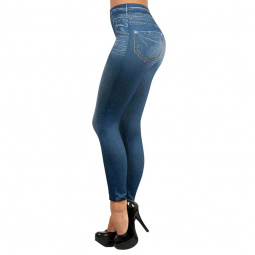 фото Леджинсы Top Shop Slim Jeggings. Цвет: синий