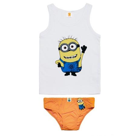 Купить Комплект нижнего белья: майка и трусы Minions «Привет!»