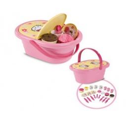 фото Игровой набор для девочки Smoby «Посудка в корзинке» Hello Kitty