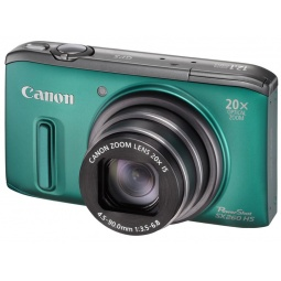 фото Фотокамера цифровая Canon PowerShot SX260 HS. Цвет: зеленый