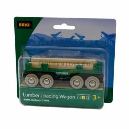 Купить Вагон с бревнами Brio 33696