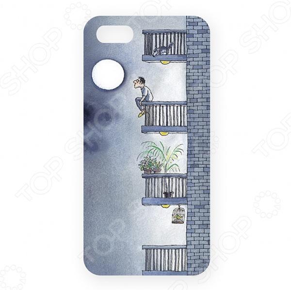 Чехол для iPhone 5 Mitya Veselkov «Разговор с Луной» чехол для iphone 5 printio с именем анна