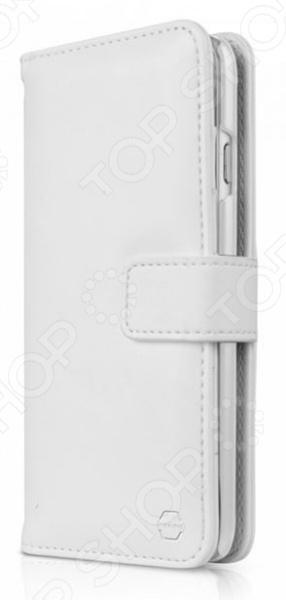 Чехол для iPhone 6 Plus ITSKINS Wallet BookЗащитные чехлы для iPhone<br>Чехол для iPhone 6 Plus ITSKINS Wallet Book практичный и функциональный аксессуар для вашего гаджета. Модель сочетает в себе стильный дизайн и великолепное качество исполнения. Основным назначением чехла является защита смартфона от различного рода механических повреждений, ударов и попадания жидкости. Кроме того, покупка чехла это еще и самый простой способ изменить дизайн вашего телефона. Чехол выполнен из высококачественной искусственной кожи, выглядит довольно дорого и стильно, приятен на ощупь. Модель совмещает в себе функции чехла для iPhone и кошелька, снабжена отверстием для задней камеры и отделением для хранения визиток и банковских карт.<br>
