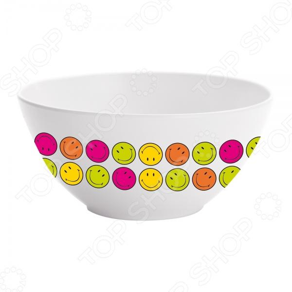 Пиала Zak!designs Море улыбок станет украшением вашего стола. Красивое оформление стола как праздничного, так и повседневного это целое искусство. Правильно подобранная посуда это залог успеха в этом деле. Такая пиала придется по вкусу даже самым требовательным хозяйкам и придаст особый шарм и очарование сервируемому столу. Пиала подойдет для сервировки салатов, соусов, или же ее можно использовать для подачи горячих блюд.