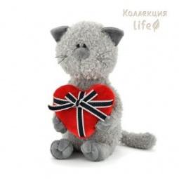 фото Мягкая игрушка для ребенка Orange «Кот Обормот с сердцем». Размер: 30 см