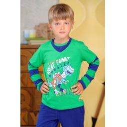 фото Футболка для мальчиков Detiland AW15-UKN-BTL-018. Цвет: зеленый. Рост: 98 см
