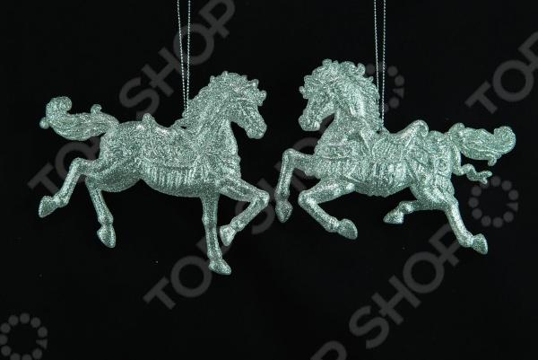 Елочное украшение Crystal Deco «Лошадка» 1707669. В ассортименте