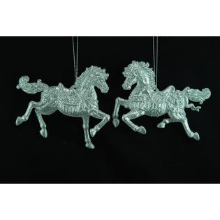 Купить Елочное украшение Crystal Deco «Лошадка» 1707669. В ассортименте
