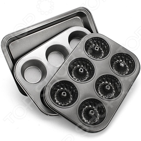 Набор форм для выпечки металлических Mayer&amp;amp;Boch MB-3341Набор форм для выпечки металлических Mayer Boch MB-3341 станет отличным дополнением к набору аксессуаров и принадлежностей для кухни. В комплект входят три формы: прямоугольный противень, форма с круглыми ячейками и форма с фигурными ячейками. Изделия выполнены из высококачественной нержавеющей стали и снабжены антипригарным покрытием. Данное покрытие отличается прочностью и устойчивостью к механическим повреждениям, не вступает в реакции с продуктами, облегчает выемку готовых блюд и чистку посуды. Формы многофункциональны и практичны в использовании, подходят для выпекания пирогов, коржей для тортов, чизкейков, тартов, запеканок, кексов, маффинов и т.д.<br>