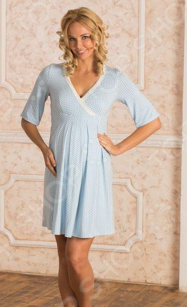 Сорочка для беременных Nuova Vita 903.2. Цвет: голубой