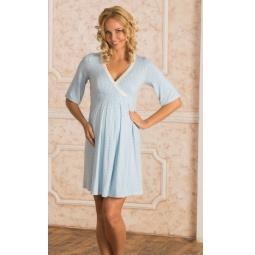Купить Сорочка для беременных Nuova Vita 903.2. Цвет: голубой