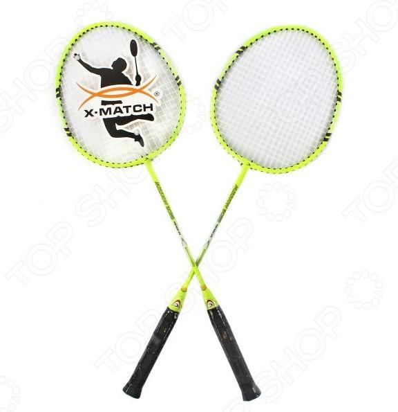 Набор ракеток для бадминтона X-MATCH с чехлом на молнии 635056 спортивная игра x match бадминтон 635056