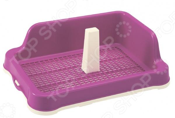 Туалет для собак DEZZIE с бортами и столбиком. В ассортименте 5600117