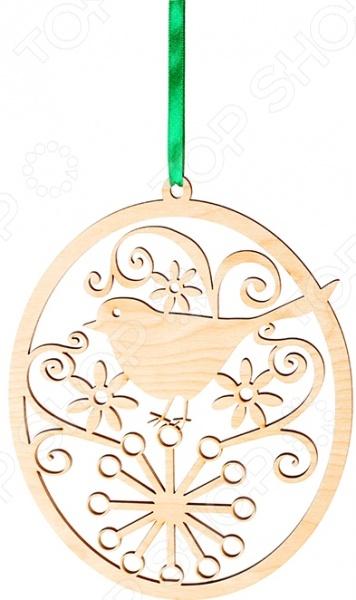 Подвеска декоративная Buratini «Соловей»Подвески<br>Подвеска декоративная Buratini Соловей оригинальное и качественное изделие из фанеры, используется для ручного творчества. Поверхность заготовки не окрашена, благодаря тщательной шлифовке оно сразу же может покрываться краской и различными элементами декора. Фигурку можно использовать в качестве игрушки для ребенка или подвески для салона авто. Ангелочек из дерева замечательно украсит новогоднюю елку или дверной проем. Наличие специального отверстия поможет разместить изделие на ленте или веревочке. Украшенный вашими собственными руками, ангел привнесет в дом уют и комфорт, подарит замечательное настроение и будет ежедневно радовать глаз. При необходимости украшения заготовки декорирующими элементами или прикрепления ее к какому-либо изделию рекомендуется использовать строительный клей ПВА. Размер готового изделия 150х189 мм. Толщина 3 мм.<br>