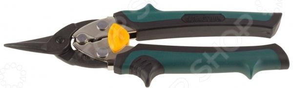 Ножницы по твердому металлу прямые Kraftool Uni-Kraft 2326-S тонкогубцы kraftool kraft мах 200мм 22011 3 20