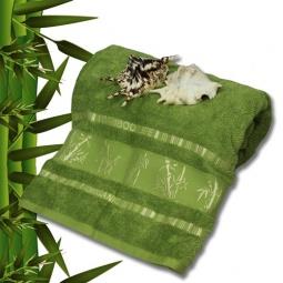 фото Полотенце махровое Mariposa Tropics green. Размер полотенца: 100х150 см