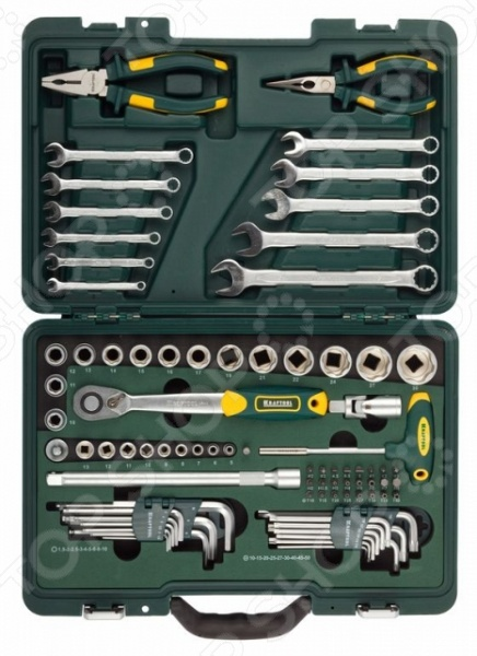 Набор слесарно-монтажного инструмента Kraftool Industry 27977-H84  набор kraftool industry слесарно монтажный инструмент 84 предмета