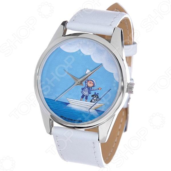 Часы наручные Mitya Veselkov «Мальчик и собака в лодке» MV.White mitya veselkov будка в лондоне