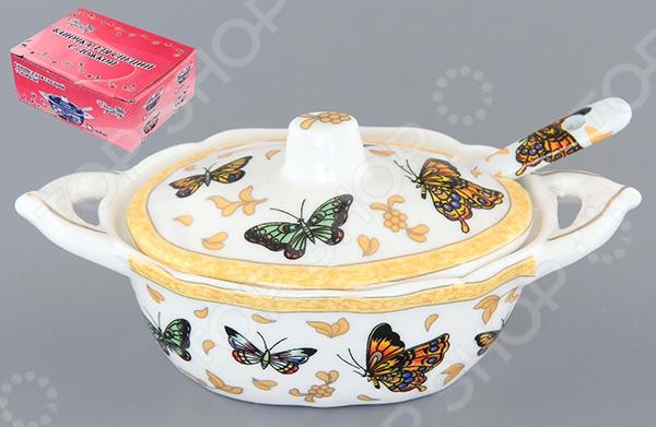 Баночка для специй с ложкой Elan Gallery «Бабочки»