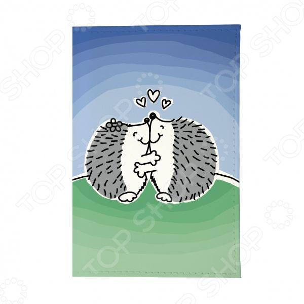 Обложка для паспорта Mitya Veselkov «Влюбленные ежики» бусы из янтаря солнечные ежики