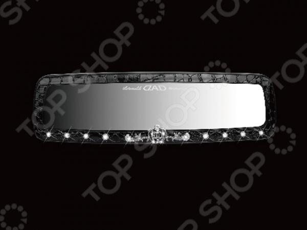 Зеркало внутрисалонное со стразами D.A.D AJ11