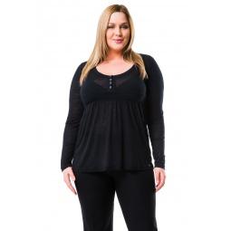 фото Кофта Mondigo XL 8496. Цвет: черный. Размер одежды: 48