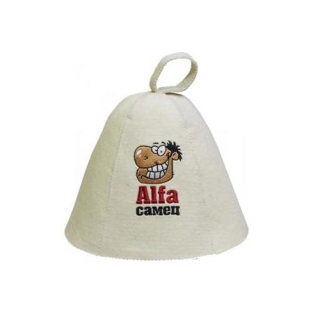 Купить Шапка для бани и сауны Банные штучки «Alfa самец»
