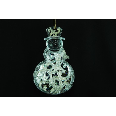 Купить Елочное украшение Crystal Deco «Снеговик»