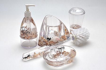 Набор аксессуаров для ванной комнаты Super Kristal «Ракушка» набор банок на подставке super kristal sk 3810