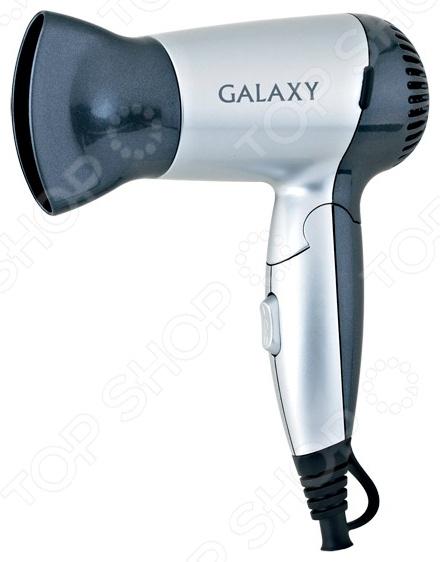 Фен Galaxy GL 4303Фены<br>Фен Galaxy GL 4303 обеспечивает мощный воздушный поток и быструю сушку волос. Благодаря небольшим размерам и складной ручке, идеален для путешествий или командировок. Представленная модель имеет мощность 1200 Вт и оснащена 2 скоростями потока воздуха. Эргономичная ручка удобно лежит в ладони, кнопки управления находятся под рукой. Оснащена петлей для подвеса. В комплект входит насадка-концетратор. Фен Galaxy GL 4303 это отличное решение для тех, кто ценит максимальный комфорт и свое время.<br>