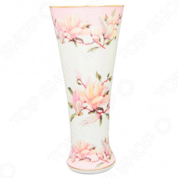 Ваза Elan Gallery «Орхидея на розовом»Вазы<br>Ваза Elan Gallery Орхидея на розовом это изящный, модный и очень яркий элемент интерьера. Выполненную вручную модель, можно разместить на окне, журнальном столике или прикроватной тумбочке. Оригинальная форма, яркая цветовая гамма изделия придадут любому букету из живых или искусственных цветов еще большей свежести и эмоциональной наполненности. Более того, дизайн вазы позволяет использовать ее как самостоятельный элемент декора. Ваза Elan Gallery Орхидея на розовом является прекрасным подарком для ваших любимых, родных и близких. Высота изделия составляет 18 см.<br>