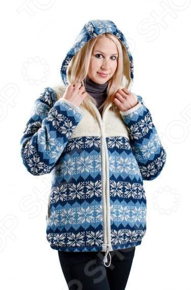 Куртка WoolHouseВерхняя одежда<br>Куртка прямого кроя WoolHouse, на молнии, по низу и по краю капюшона вдет шнурок, для регулировки ширины, в боковых швах глубокие карманы, рукава отстегиваются, куртка преобразуется в жилет. Внешняя сторона куртки трикотажное полотно из натуральной шерсти, кокетка по груди и спинке натуральный меринос, подкладка натуральный меринос, подкладка капюшона велюр.<br>