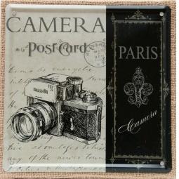 фото Картина на металле Феникс-Презент «Фотоаппарат»