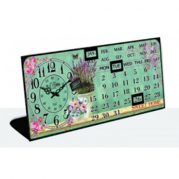 фото Часы настольные с календарем Феникс-Презент «Голубая лаванда»