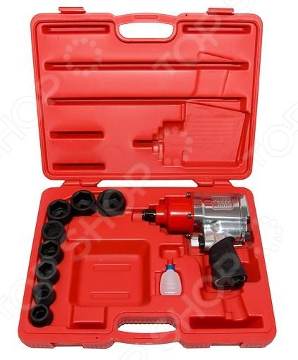 Набор инструмента: пневмогайковерт с ударными головками Force F-6111