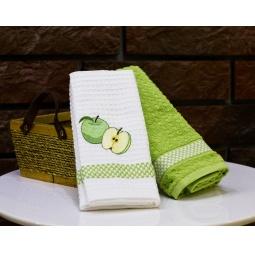 фото Комплект из 2-х кухонных полотенец Mariposa Apple. Цвет: салатовый