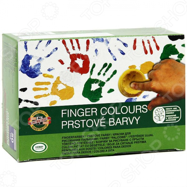 Краски для рисования пальцами Koh-I-Noor 163510